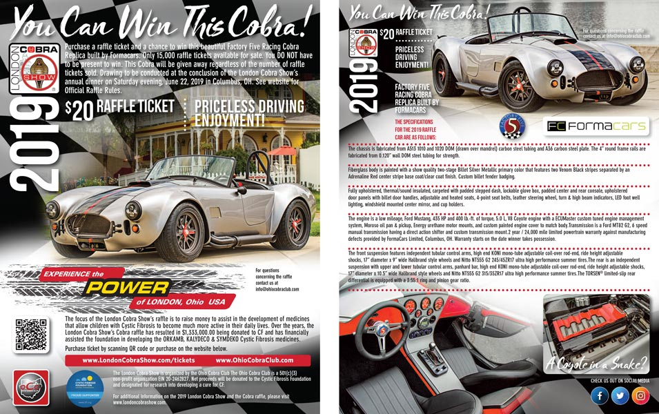 2019 London Cobra Show Flyer